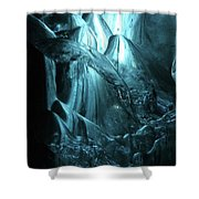Iceland - Glacier Ice Caves #4 Shower Curtain