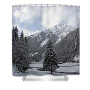 Ice Cold But Beautiul Shower Curtain
