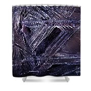 Ice-cold Gothic Night Shower Curtain