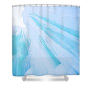 Ice Covered Mountains Good For Ice Climbing Shower Curtain