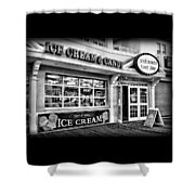 Ice Cream And Candy Shop At The Boardwalk - Jersey Shore Shower Curtain