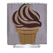 Ice Cream Emoji Shower Curtain
