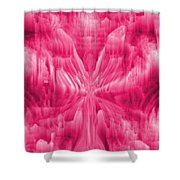 Ice Crystal Angel - Pink Shower Curtain