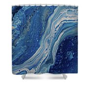 Ice Currents Shower Curtain