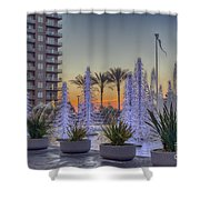 Ice Cycles At Sunset Shower Curtain