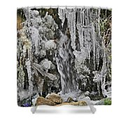 Ice Droplets  Shower Curtain