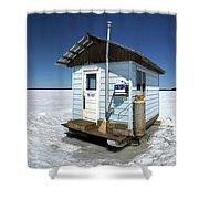 Ice Fishing Shack Shower Curtain