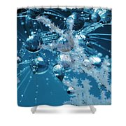 Ice Flower Abstract Shower Curtain