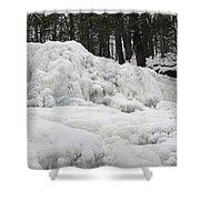 Ice Formations At Garwin Falls Shower Curtain