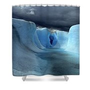 Ice Formations On Grey Glacier Chile Shower Curtain