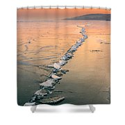 Ice Fracture Shower Curtain