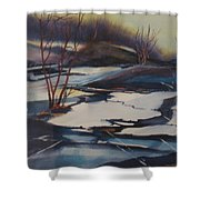 Ice Fragments Shower Curtain