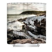 Ice Frosting Shower Curtain