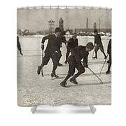 Ice Hockey 1912 Shower Curtain