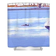 Ice Hockey - Two On Two Shower Curtain