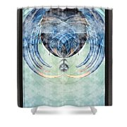 Ice Layered Effect And Framed Shower Curtain