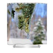 Ice Melt Shower Curtain