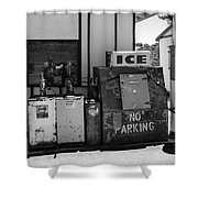 Ice - No Parking Shower Curtain