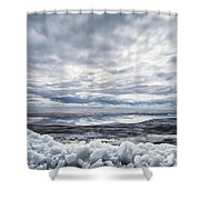 Ice On Lake Nipissing Shower Curtain