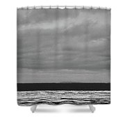 Ice On The Shore Of Georgian Bay  Shower Curtain