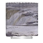 Ice Over The Falls Shower Curtain
