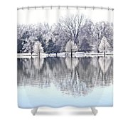 Ice Park Shower Curtain