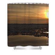 Ice Reflective Nature Shower Curtain