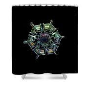 Ice Relief, Black Version Shower Curtain
