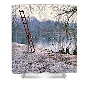 Ice Rescue Ladder  Shower Curtain