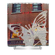The Annual Ice Sculpting Festival In The Colorado Rockies, The Flittering Butterfly Shower Curtain