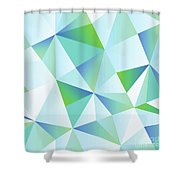 Ice Shards Abstract Geometric Angles Pattern Shower Curtain