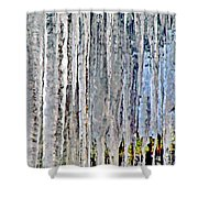 Ice Sickle Curtains Shower Curtain
