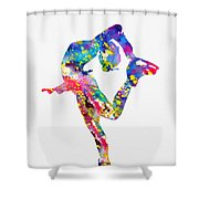 Ice Skater-colorful Shower Curtain