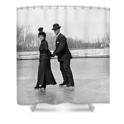 Ice Skaters Shower Curtain