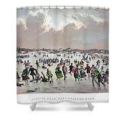 Ice Skating, C1859 Shower Curtain