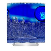 Ice Skies Shower Curtain