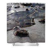 Ice Snakes Shower Curtain