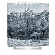 Ice Storm In The Flint Hills No 1 2724 Shower Curtain