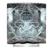 Ice Temple Shower Curtain