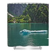 Ice Tracy Arm Alaska Shower Curtain