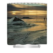 Ice Trail Hikers Shower Curtain