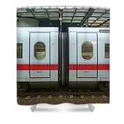 Ice Train At Berlin Station Shower Curtain