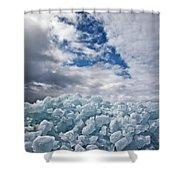 Ice Wall II Shower Curtain