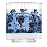 Ice Water Fall Shower Curtain