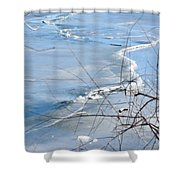 Ice Waves Shower Curtain