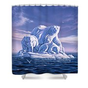 Icebeargs Shower Curtain by Jerry LoFaro