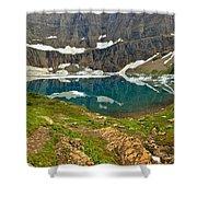 Iceberg Lake Glacier Shower Curtain