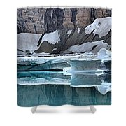 Iceberg Lake Icebergs Shower Curtain