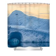 Iceberg On The Jokulsarlon Glacial Shower Curtain