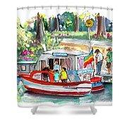 Icecream Boat In York Shower Curtain